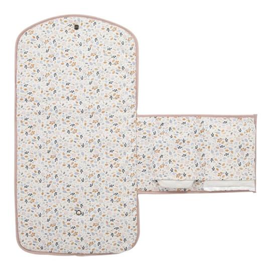 cambiador flores con bolsillos para pañales y toallitas fácil de doblar