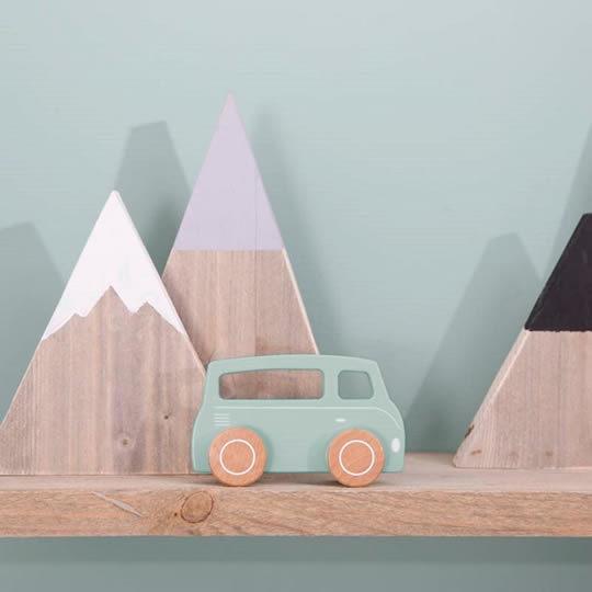 juguete camioneta de madera mint para niños a partir de 12 meses